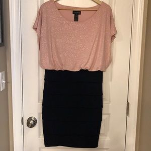 Enfocus Studio Pink and Navy Glitter Dress